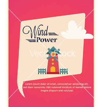Free with windmill vector - Free vector #231909