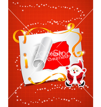 Free christmas with sticker and santa vector - vector gratuit #231999