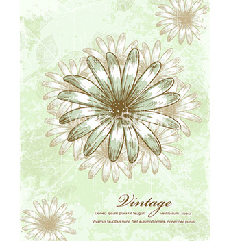 Free floral grunge vector - Free vector #232199