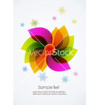 Free abstract flower vector - Free vector #232259