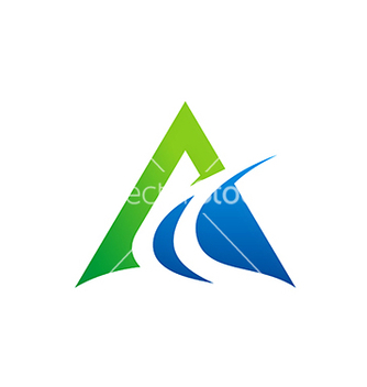 Free abstract triangle business finance logo vector - бесплатный vector #232479