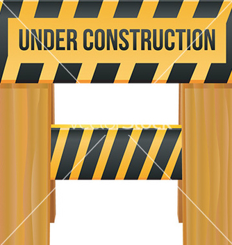 Free under construction sign vector - vector gratuit #232499