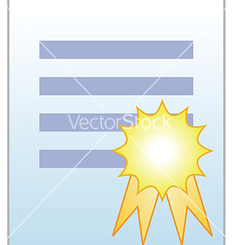 Free document with certificate vector - бесплатный vector #232649