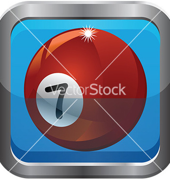 Free pool ball icon vector - Kostenloses vector #232669