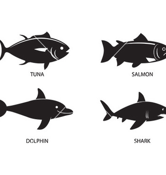 Free fish icon set vector - vector gratuit #232859