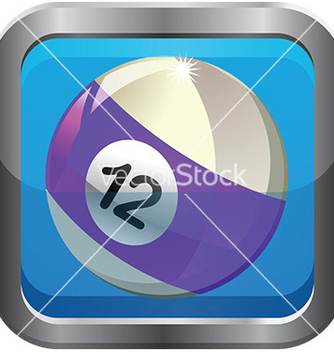 Free pool ball icon vector - Kostenloses vector #232959