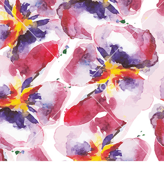 Free pattern with flowers vector - Free vector #233009