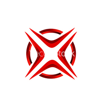 Free x letter red abstract technology logo vector - vector #233059 gratis