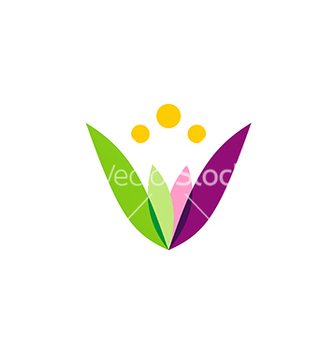 Free colorful simple flower beauty logo vector - Free vector #233069