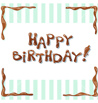 Free happy birthday card vector - vector #233079 gratis