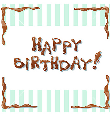 Free happy birthday card vector - Free vector #233079