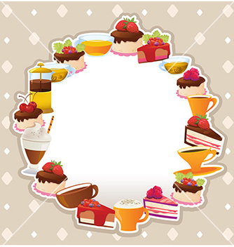 Free cakes card vector - Free vector #233099