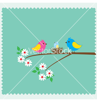 Free bird family vector - vector gratuit #233129