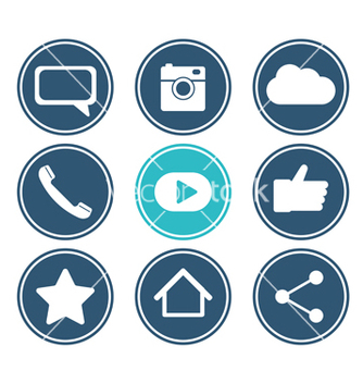 Free social network icon set flat design collection vector - бесплатный vector #233139