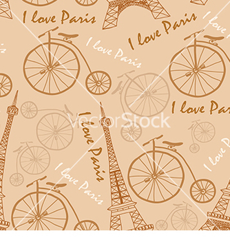 Free pattern of the eiffel tower on a beige background vector - Kostenloses vector #233269