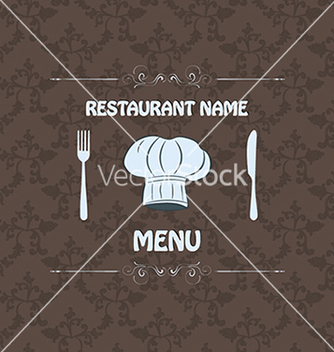 Free restaurant menu label brochure design element with vector - vector gratuit #233369