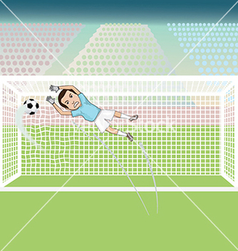 Free a goal keeper failed saving the soccer ball thus vector - Free vector #233409