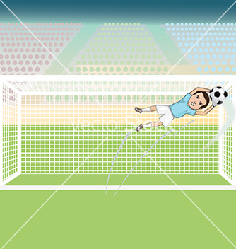 Free a goal keeper saving a soccer ball on a possible vector - Kostenloses vector #233429