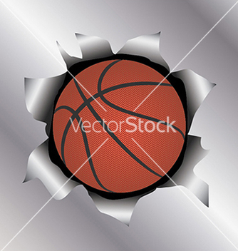 Free basketball thru metal sheet vector - Free vector #233519