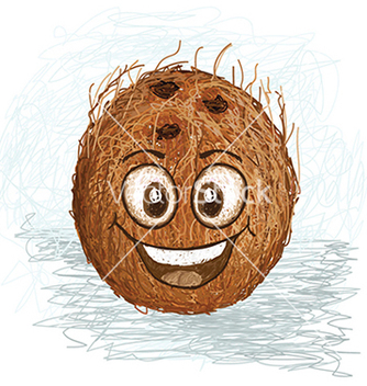 Free happy coconut vector - vector gratuit #233529