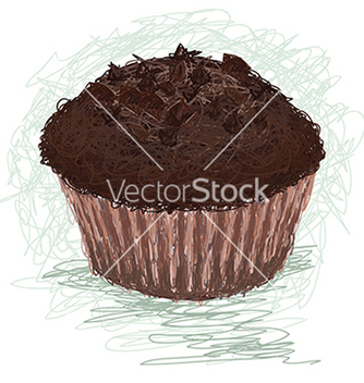 Free closeup of a chocolate muffin cup cake snack vector - vector #233539 gratis