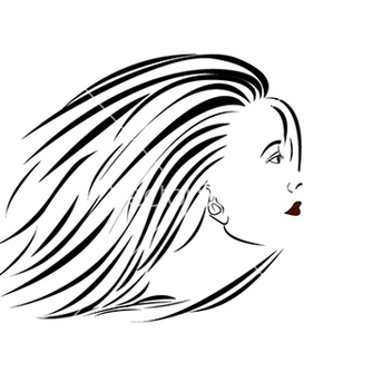 Free womanportraitsideview vector - Free vector #233569
