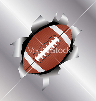 Free football thru metal sheet vector - vector gratuit #233609