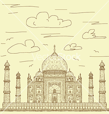 Free vintage hand drawn of famous tourist destination vector - Free vector #233779