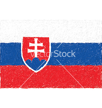 Free hand drawn of flag of slovakia vector - бесплатный vector #233809