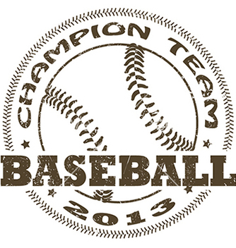 Free baseball label vector - Free vector #233819
