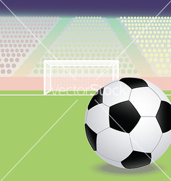 Free a soccer football field with soccer ball in the vector - Kostenloses vector #233879