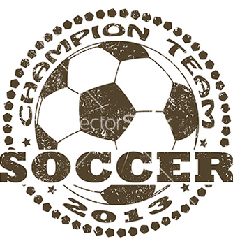 Free soccer label vector - бесплатный vector #233919