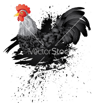 Free grunge rooster2 vector - Kostenloses vector #233969
