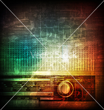 Free abstract music grunge vintage background with vector - Free vector #234009