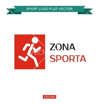 Free icon running man logo in rectangle area sports vector - Free vector #234039