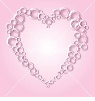 Free abstract background with hearts on a pink vector - vector #234079 gratis