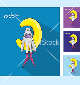 Free icons with rabbit vector - vector gratuit #234109