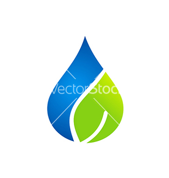 Free clean water and leaf nature logo vector - vector gratuit #234179