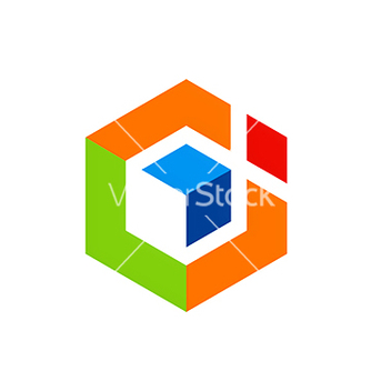 Free abstract geometry cube logo vector - Free vector #234189