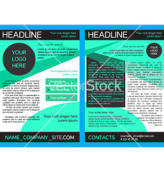 Free brochure design template in eps vector - vector gratuit #234329