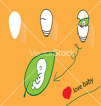 Free love baby vector - Free vector #234349