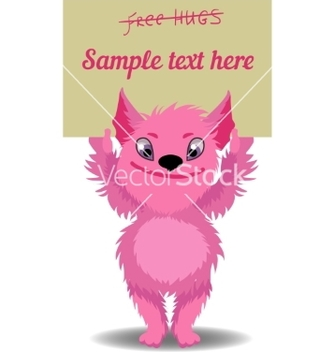 Free cute cartoon monster vector - vector #234449 gratis
