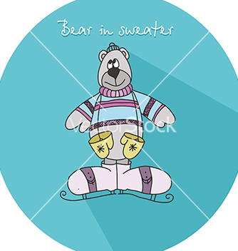 Free icon with a teddy bear vector - бесплатный vector #234589