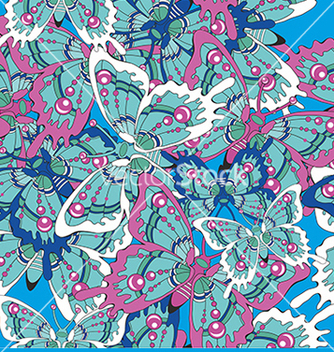 Free pattern with butterflies on a blue background vector - vector gratuit #234629