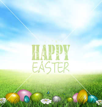 Free easter background vector - vector gratuit #234719
