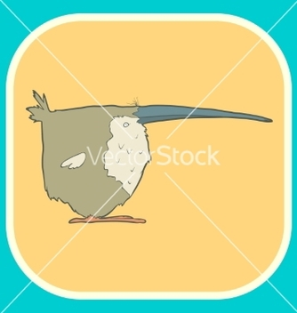 Free hand drawn retro cartoon bird vector - vector gratuit #234809