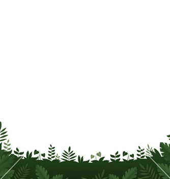 Free green leaves frame on white background vector - Kostenloses vector #234819