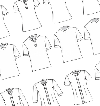 Free white tshirts and dress shirts pack vector - vector gratuit #234949
