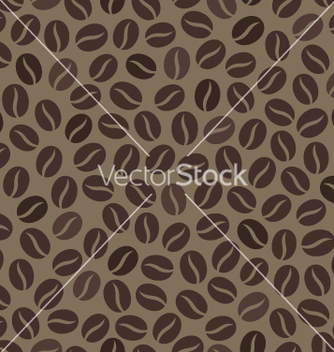 Free seamless wallpaper pattern with coffee beans vector - Free vector #234999