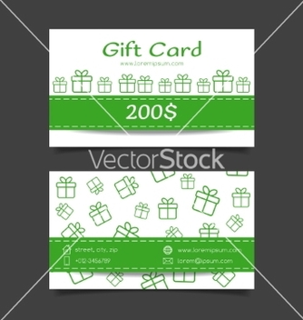 Free gift card template vector - бесплатный vector #235019